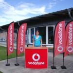 ECO Werbefahne für Vodafone