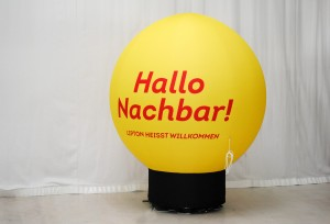 Standballon 2m für Lipton