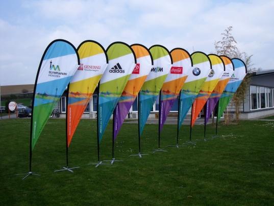 Eine Beachflag ist schnell auszubauen und leicht zu transportieren.