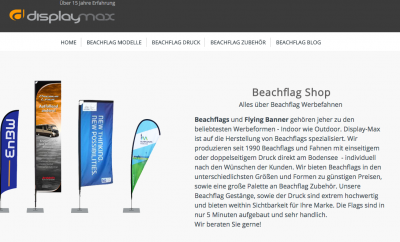 Beachflag Shop Website