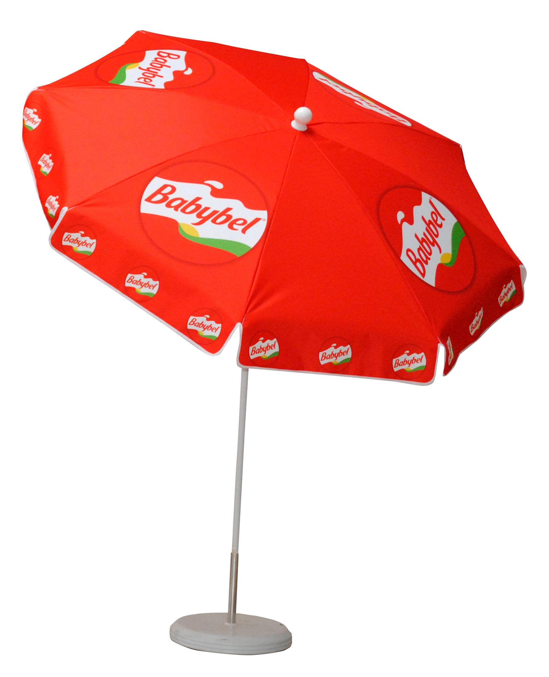 bedruckter Sonnenschirm Werbeschirme-Rund-2m-Babybel (1) (2)