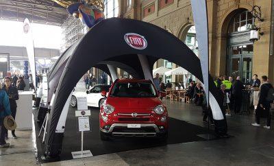 Fiat Eventausstattung mit pneumatischem Eventzelt der Display-Max Gmbh