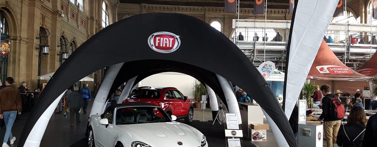 pneumatische Eventzelt der Display-Max Gmbh für Fiat